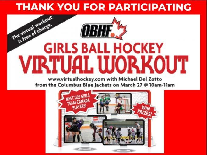 OBHF GIRLS BALL HOCKEY VIRTUAL WORKOUT