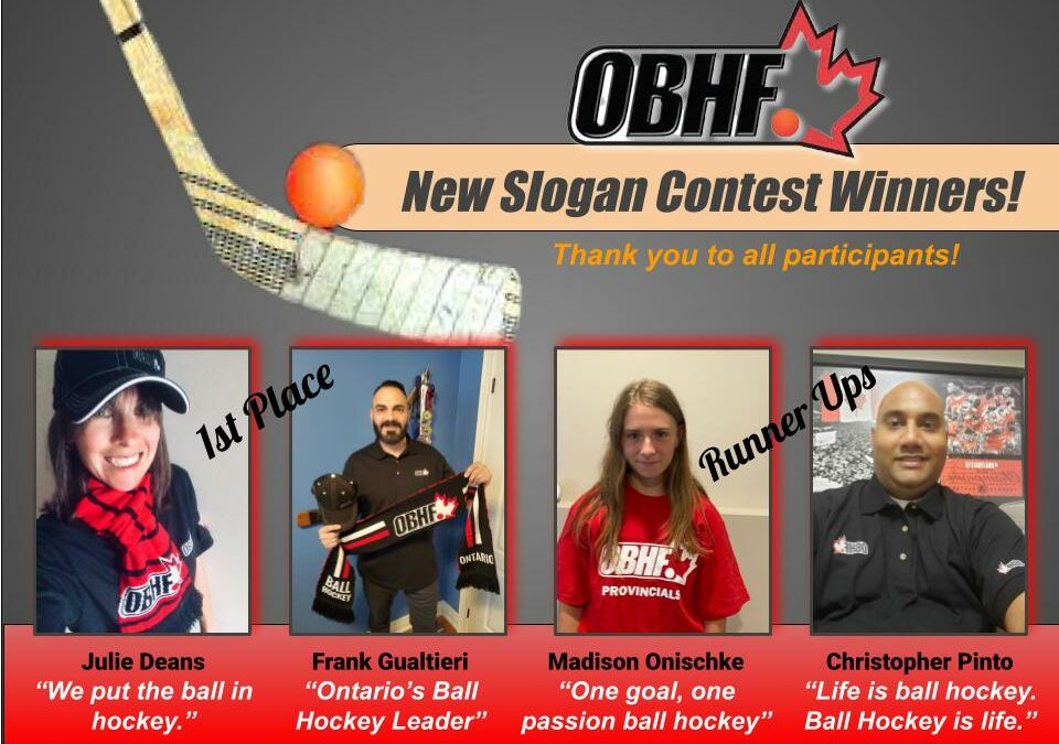 OBHF NEW SLOGAN CONTEST WINNERS !!!!!!!!