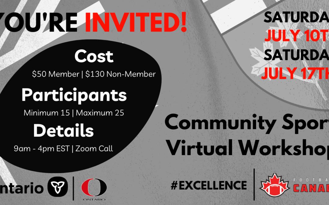 Community Sport Virtual Workshop